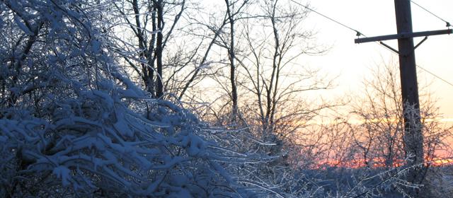 Icy Sunset Cross